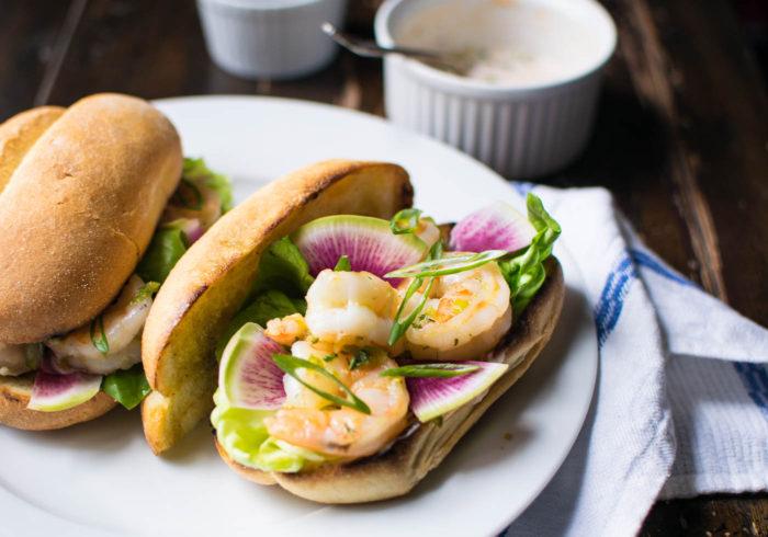 Shrimp Rolls with Sriracha Mayo