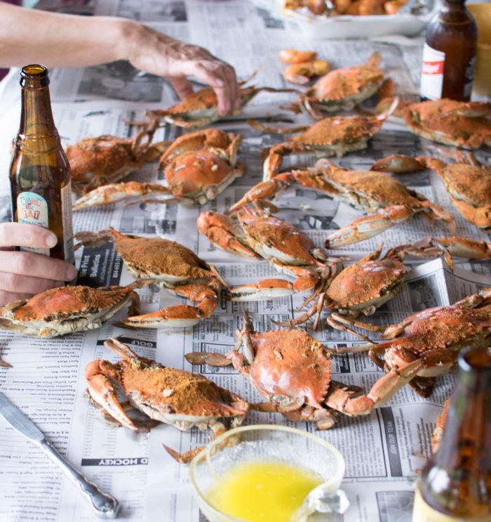 Old Bay Steamed Crabs summer