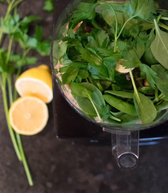 green dip in food processor