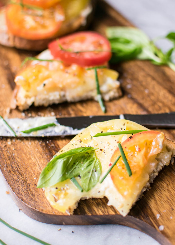 Summer Tomato Toasts