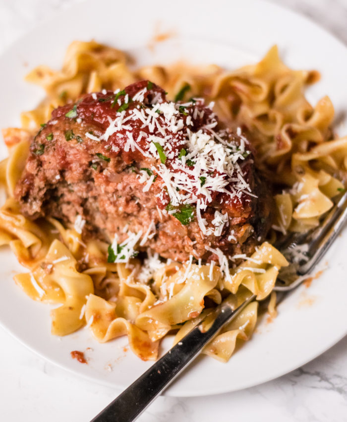 Italian Meatloaf with Pasta and Cheese