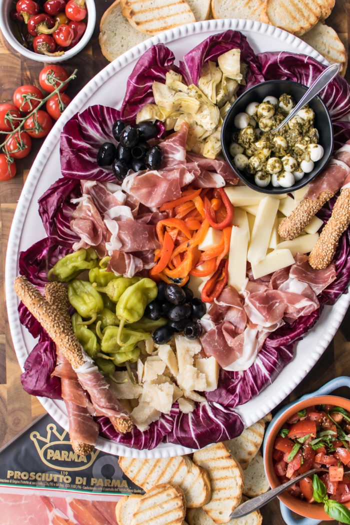 Italian Antipasto Platter with Prosciutto
