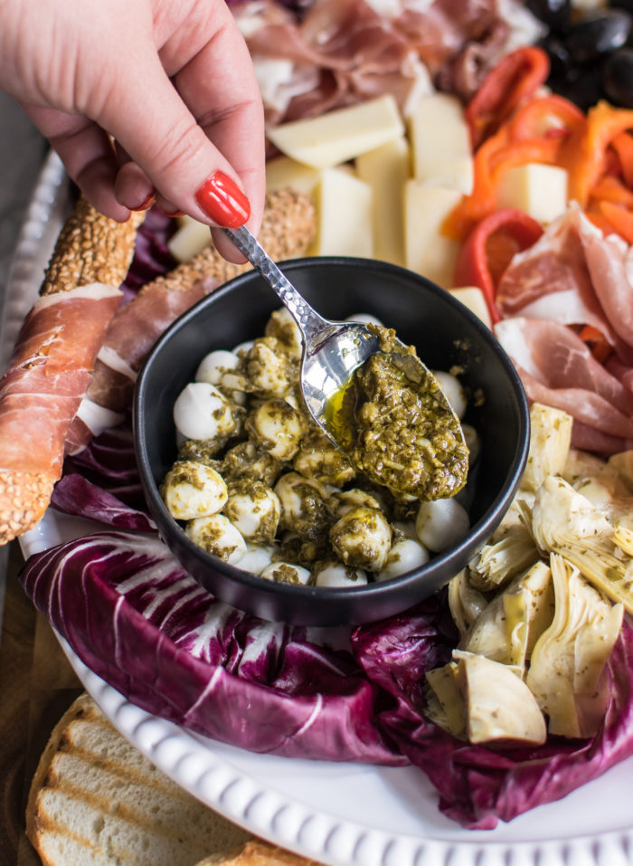 Italian Antipasto Platter with Pesto