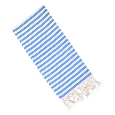 blue striped towel