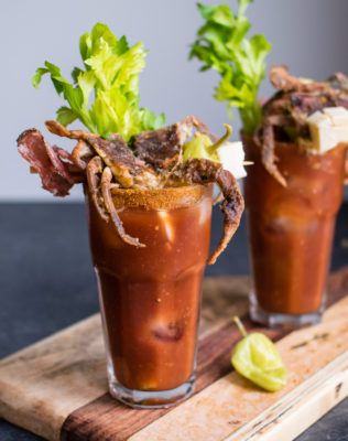 Bloody Mary with Soft Shell Crab