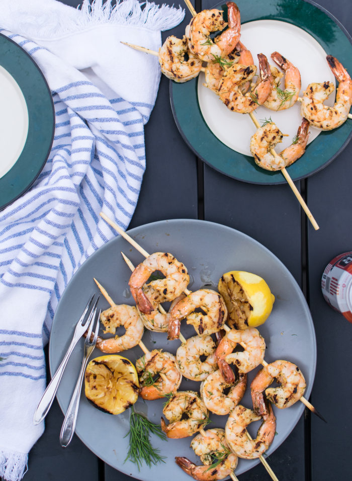 Grilled Dill Shrimp Skewers