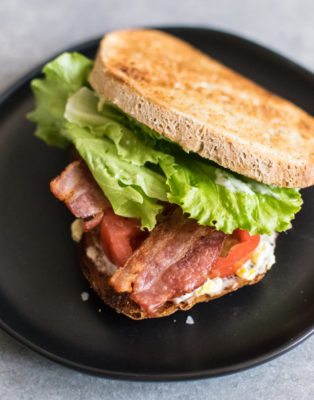 BLT with Pepperoncini Mayo
