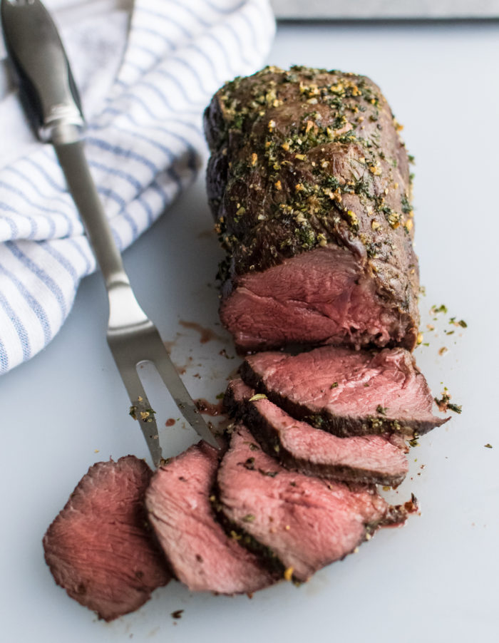 Herb Crusted Roast Beef with Horseradish Sauce