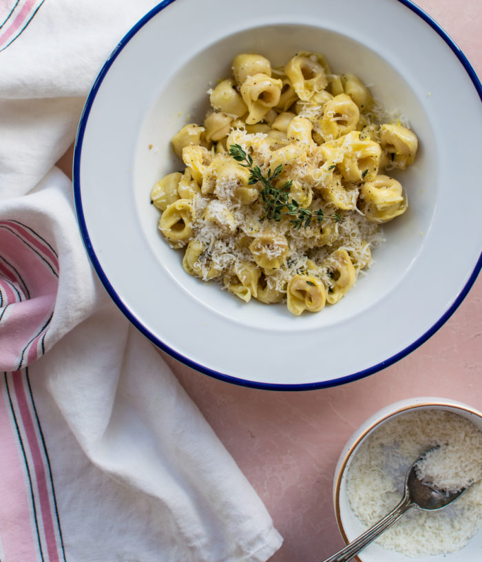 Tortellini with Lemon Butter Sauce