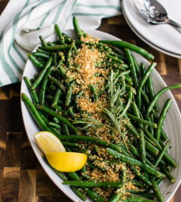 Green Beans with Tarragon and Garlic Breadcrumbs