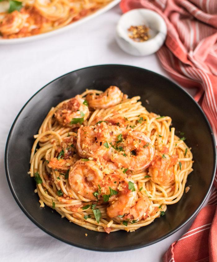 Shrimp Fra Diavolo with Pasta