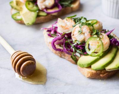 Avocado Toast with Shrimp
