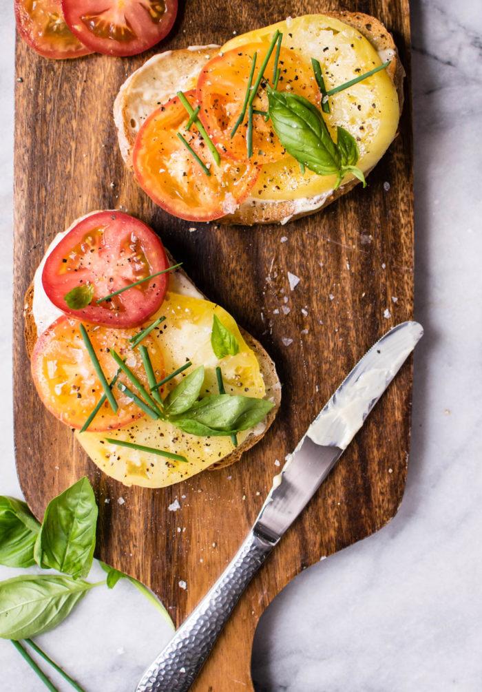 Summer Tomato Toasts