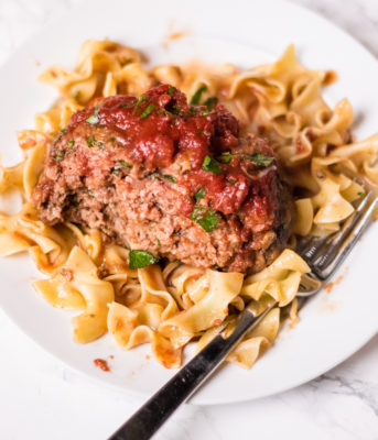 Italian Meatloaf with Pasta