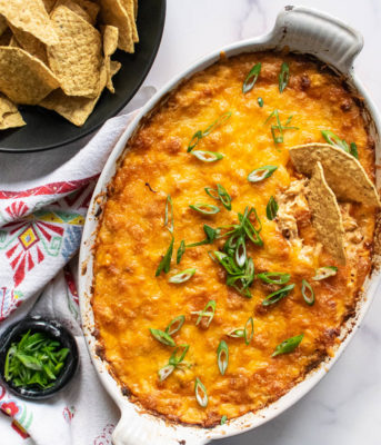 Mexican Shredded Chicken Dip