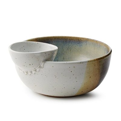 uncommon goods chip and dip bowl
