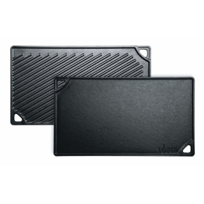 cast iron reversible grill griddle pan