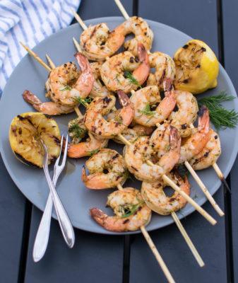 Grilled Dill Shrimp Skewers