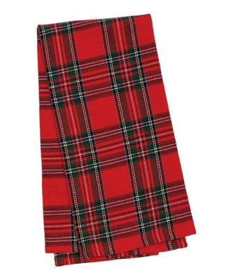 Red & Green Alder Plaid Dish Towel - Set of Two