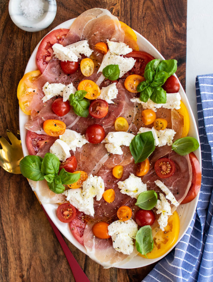 Caprese with prosciutto