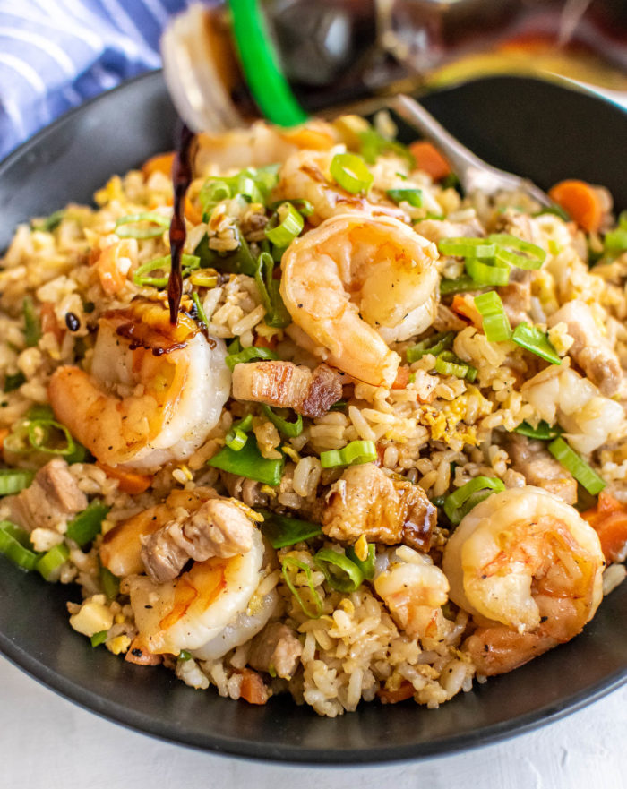 shrimp and pork belly fried rice