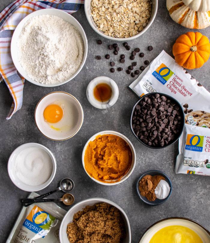 Pumpkin Oatmeal Cookies ingredients