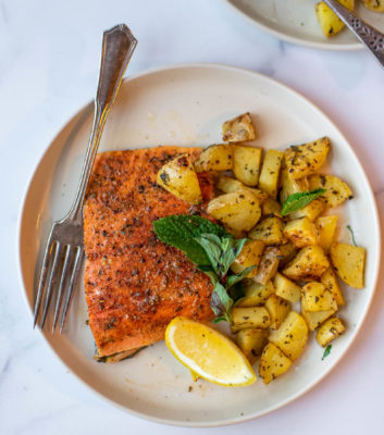 Greek Salmon and Potatoes