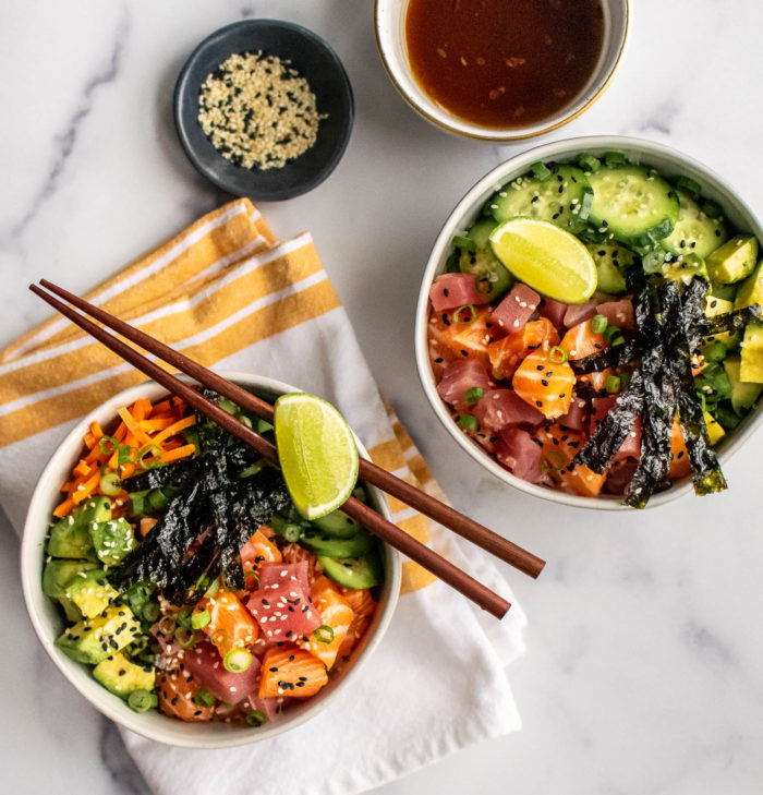 Whole30 Poke Bowls