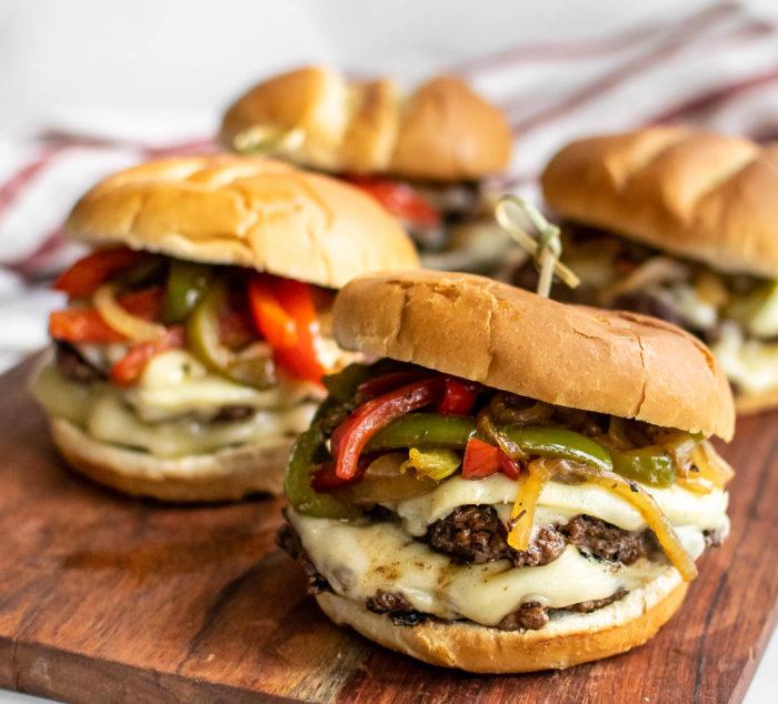 Cheesesteak Burgers