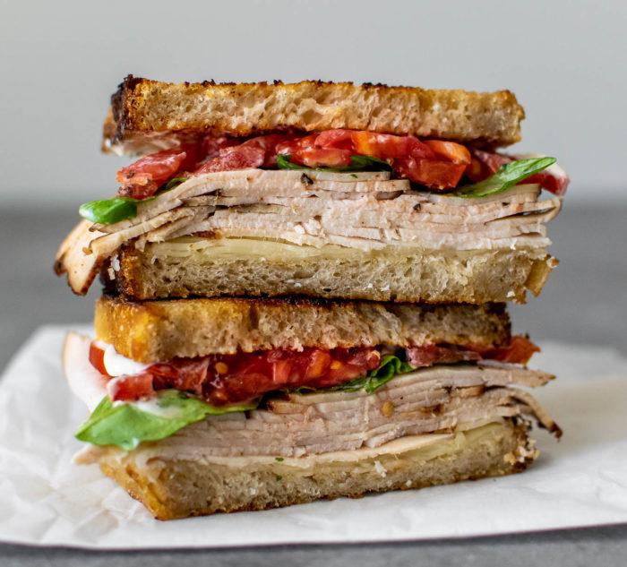 summertime turkey sandwich